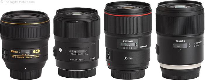 Tamron 35mm f/1.4 Di USD Lens Compared to Similar Lenses