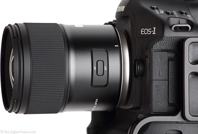 Tamron 35mm f/1.4 Di USD Lens Close Side View