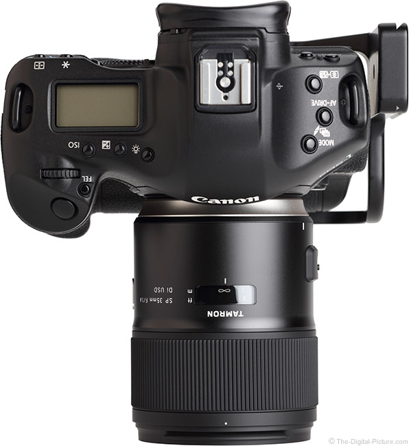 Tamron 35mm f/1.4 Di USD Lens Top View