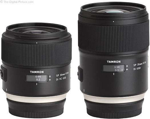 Tamron SP 35mm Di USD Lenses