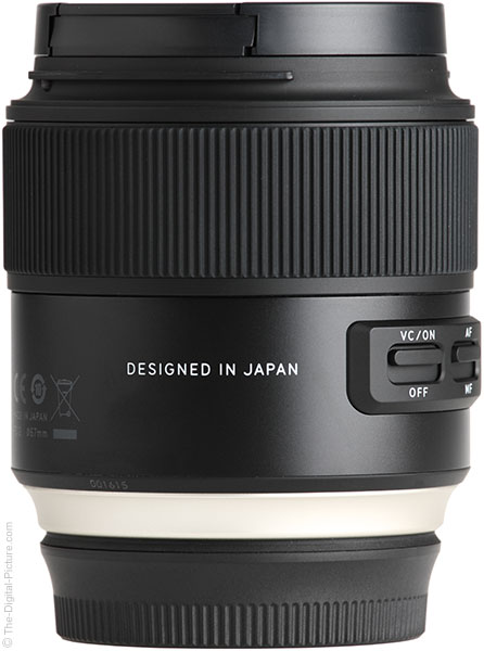 Tamron 35mm f/1.8 Di VC USD Lens Designed in Japan Lettering