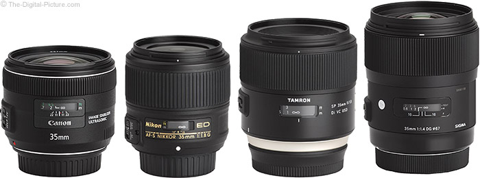Tamron 35mm f/1.8 Di VC USD Lens Compared to Similar Lenses
