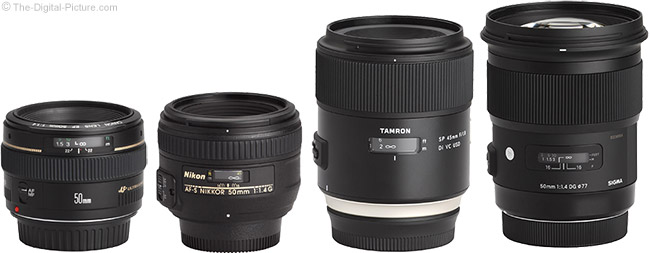 Tamron 45mm f/1.8 Di VC USD Lens Compared to Similar Lenses
