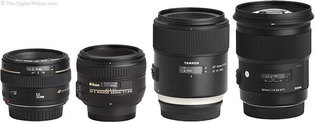 Tamron 45mm f/1.8 Di VC USD Lens Compared to Similar Lenses