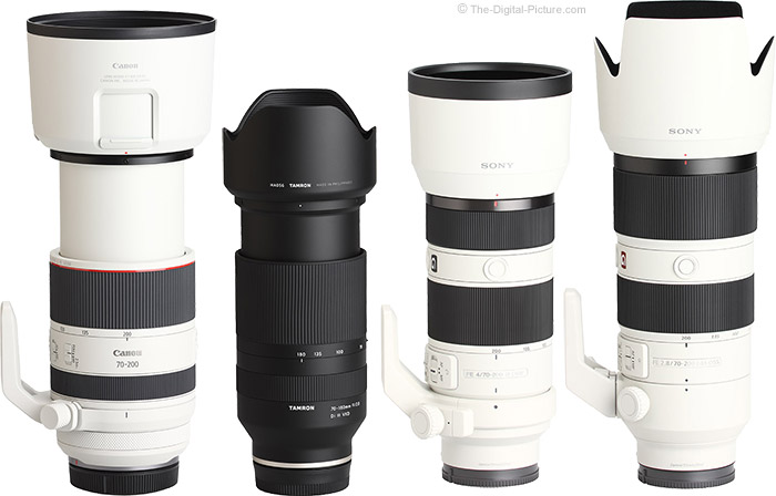 Tamron 70-180mm f/2.8 Di III VXD Lens Compared to Similar Lenses with Hoods