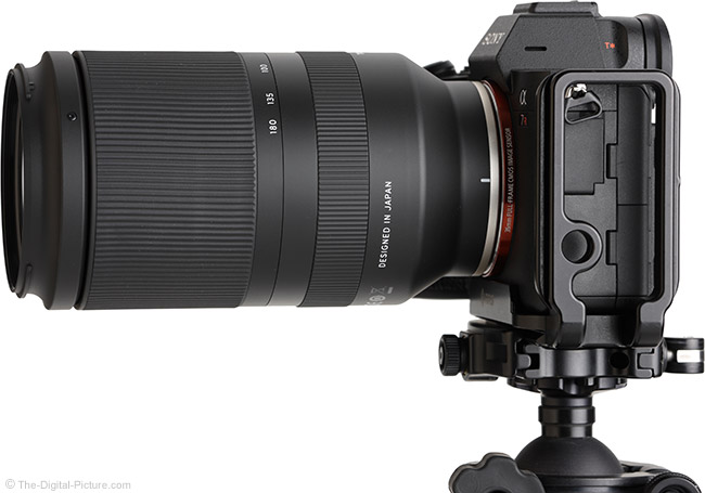 Tamron 70-180mm f/2.8 Di III VXD Lens Side View