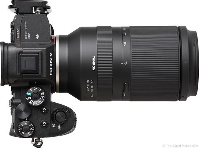 Tamron 70-180mm f/2.8 Di III VXD Lens Top View