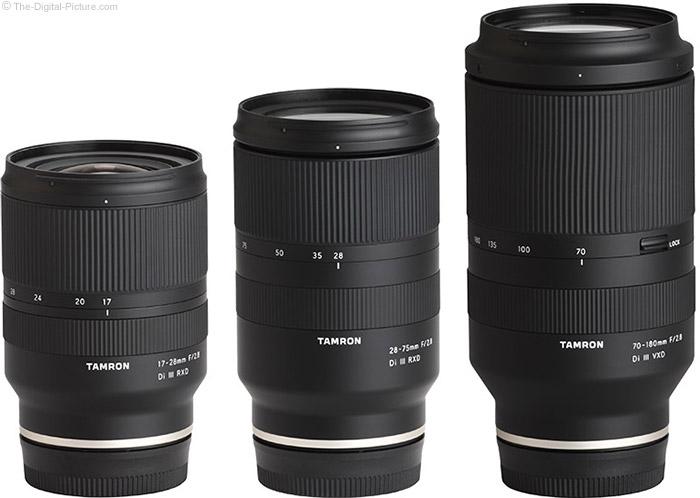 Tamron f/2.8 Di III Lens Family