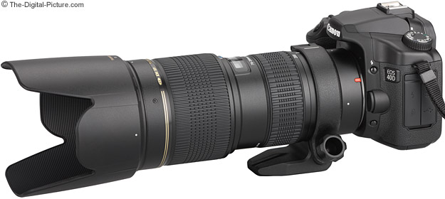 Tamron 70-200mm f/2.8 Di Macro Lens Mounted on a Canon EOS 40D