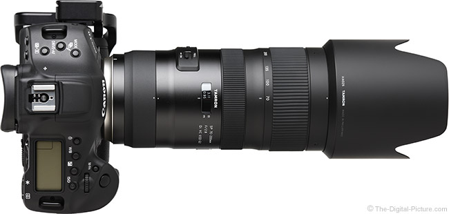 Tamron 70-200mm f/2.8 Di VC USD G2 Lens Top View with Hood