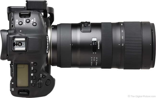 Tamron 70-200mm f/2.8 Di VC USD G2 Lens Top View