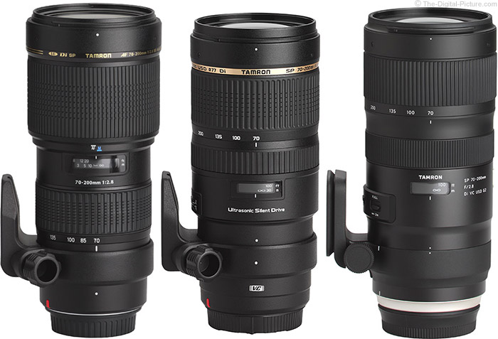 Tamron 70-200mm f/2.8 Lens Version Comparison