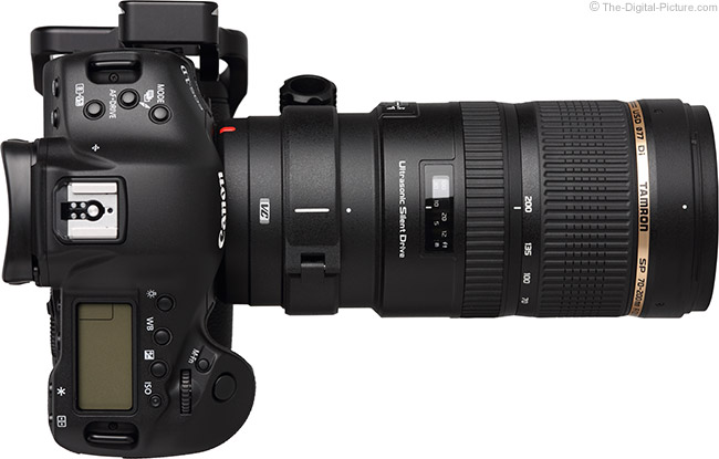 Tamron 70-200mm f/2.8 Di VC USD Lens - Top View