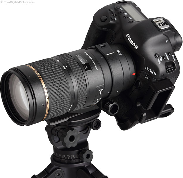 Tamron 70-200mm f/2.8 Di VC USD Lens - Angled View