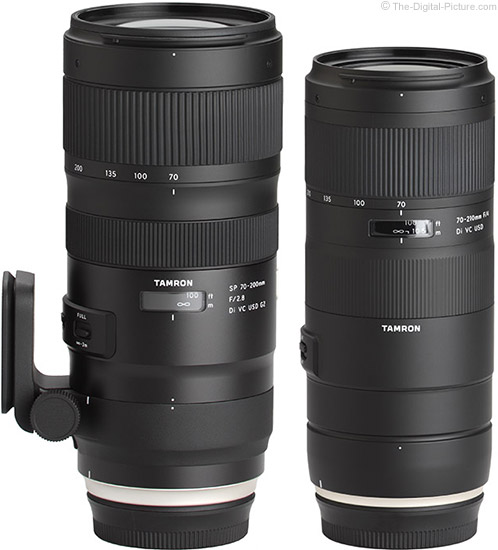 Tamron 70-210mm f/4 VC Lens Compared to 70-200 f/2.8 VC Lens