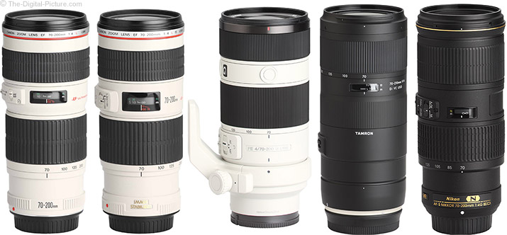 Tamron 70-210mm f/4 Di VC USD Lens Compared to Similar Lenses