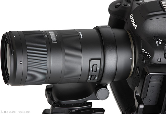 Tamron 70-210mm f/4 Di VC USD Lens Top Angle View