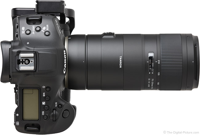 Tamron 70-210mm f/4 Di VC USD Lens Top View