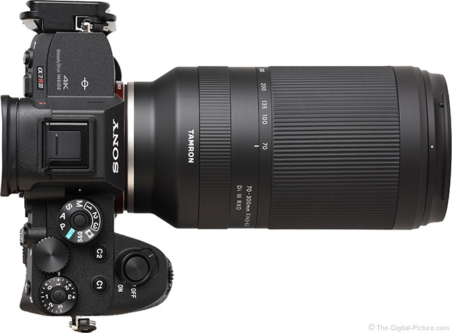 Tamron 70-300mm f/4.5-6.3 Di III RXD Lens Top View