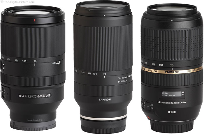 Tamron 70-300mm f/4.5-6.3 Di III RXD Lens Compared to Similar Lenses