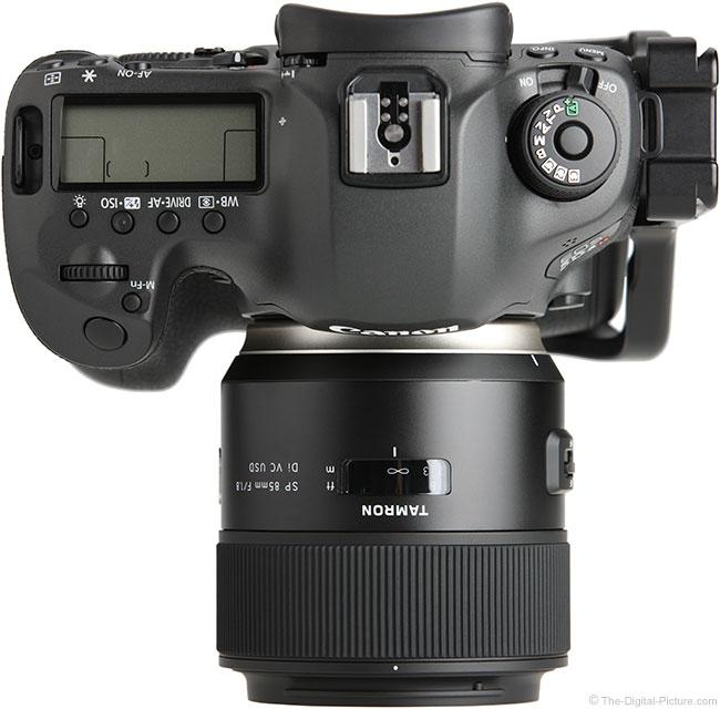 Tamron 85mm f/1.8 Di VC USD Lens Top View