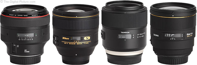Tamron 85mm f/1.8 Di VC USD Lens Compared to Similar Lenses