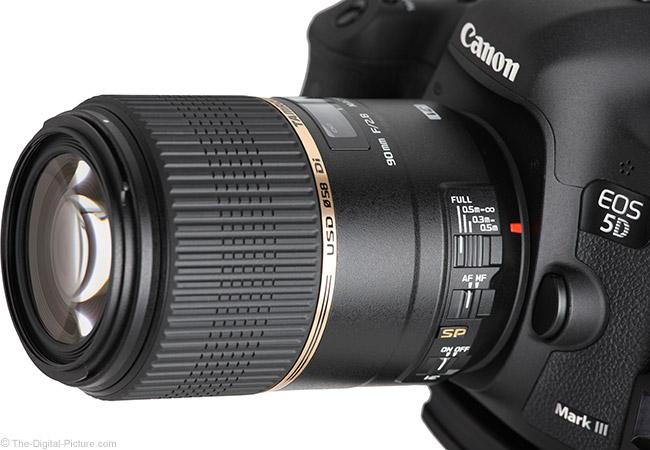 Tamron 90mm VC Macro Lens Angle View