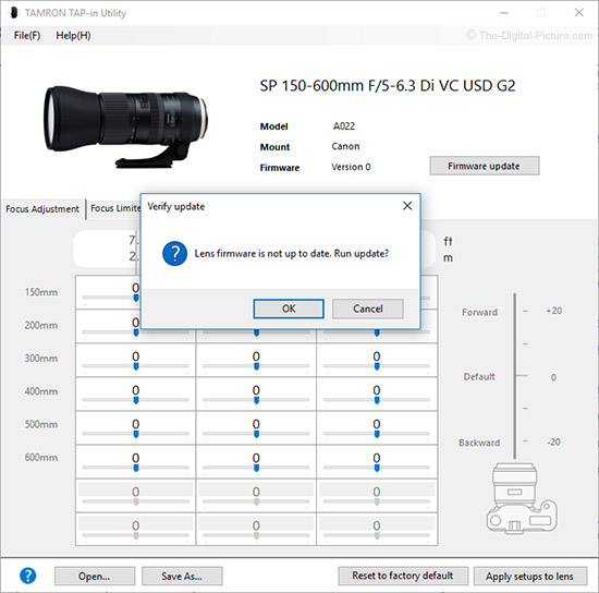 Tamron TAP-in Console – Firmware Update