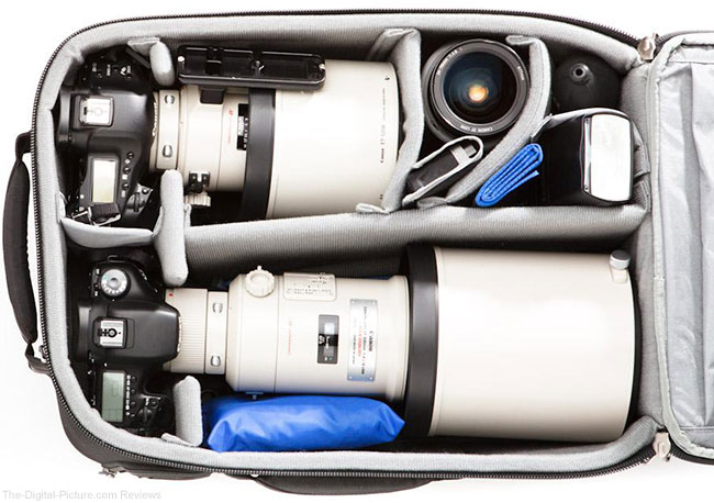 Think Tank Photo Airport Accelerator Packed with Canon and Nikon Gear