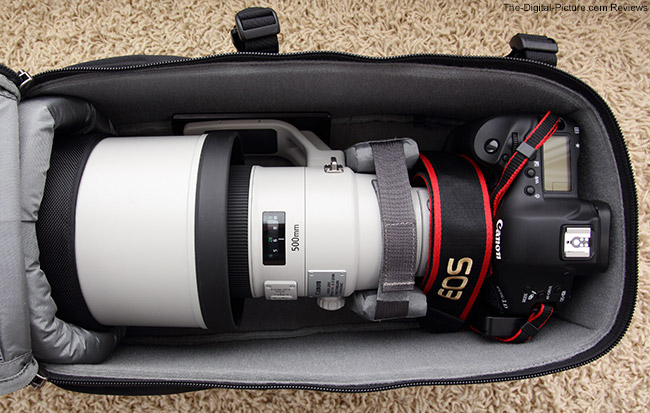 Think Tank Photo Glass Limo with 400mm Lens Mounted on DSLR