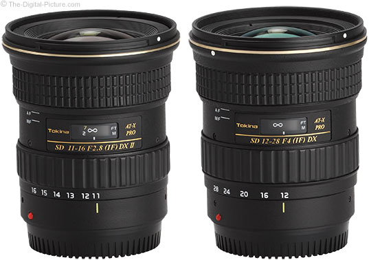 Tokina 11-16mm and 12-28mm Lenses Compared
