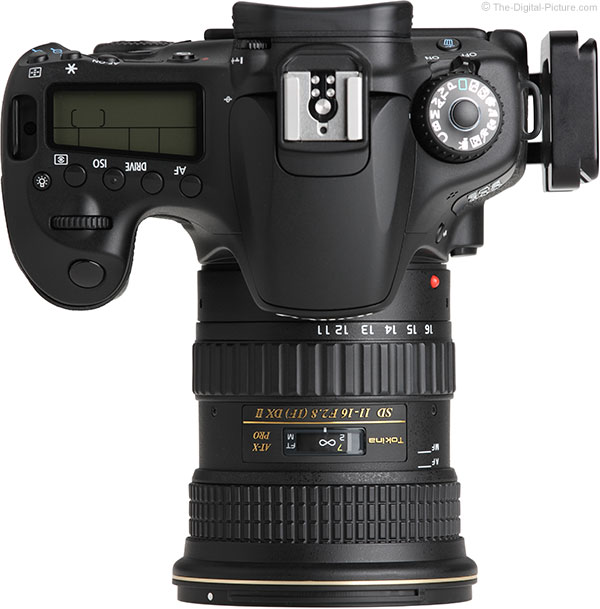 Tokina 11-16mm f/2.8 AT-X Pro DX II Lens Top View