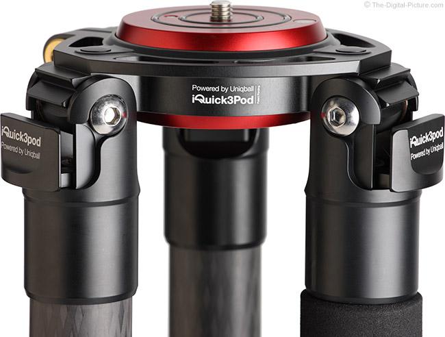 UniqBall IQuick3Pod 40.4 Carbon Fiber Tripod Angle Lock