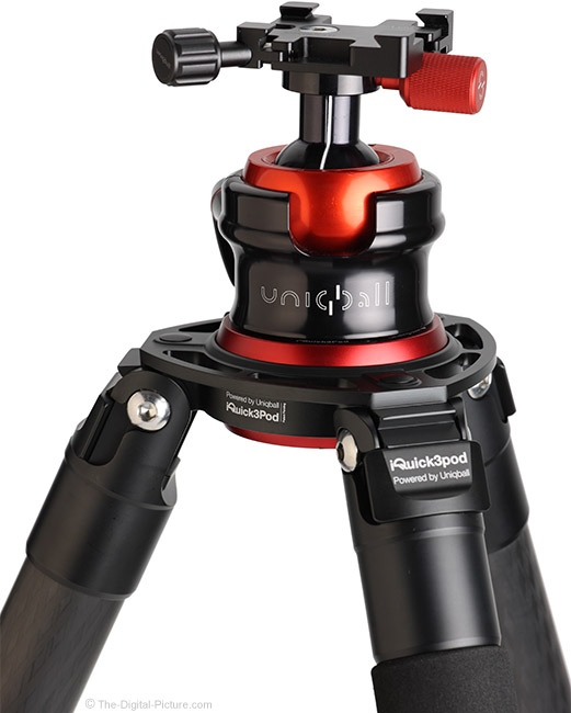 UniqBall IQuick3Pod 40.4 Carbon Fiber Tripod with Ball Head