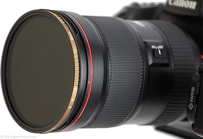 Variable Neutral Density Filter on Lens