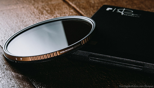 PolarPro Variable Neutral Density Filter on Table