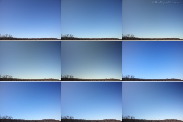 Variable Neutral Density Filter Evenness at 24mm