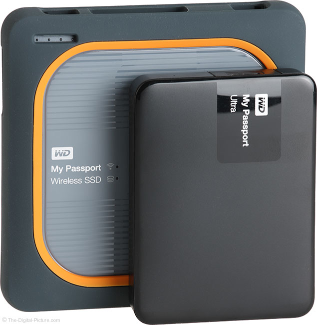 WD My Passport Wireless SSD Compared to Portable Drive