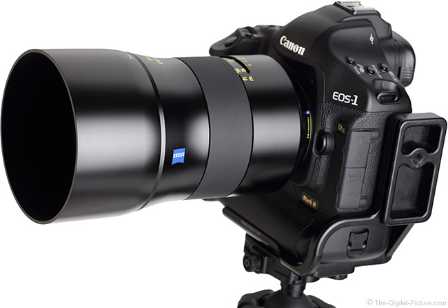 Zeiss 100mm f/1.4 Otus Lens Angle View with Hood