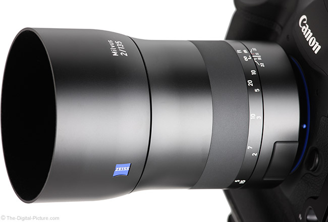 Zeiss 135mm f/2 Milvus Lens Close Angle View