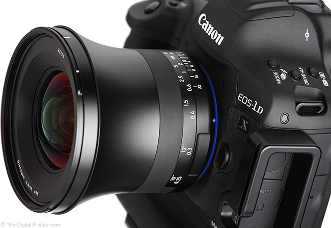 Zeiss 15mm f/2.8 Milvus Lens Angle View