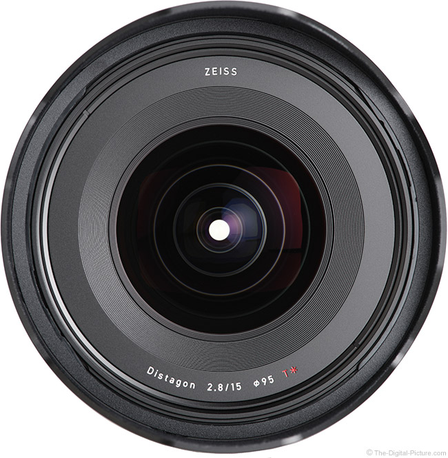 Zeiss 15mm f/2.8 Milvus Lens Front View