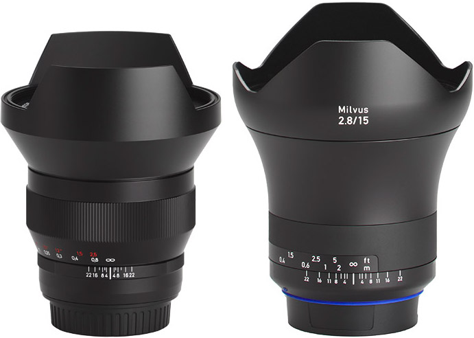 Zeiss 15mm f/2.8 Milvus compared to Classic Lens