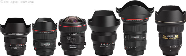 Ultra-Wide Angle Lenses with Hoods