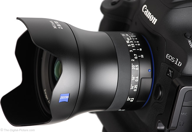 Zeiss 18mm f/2.8 Milvus Lens Angle View with Hood