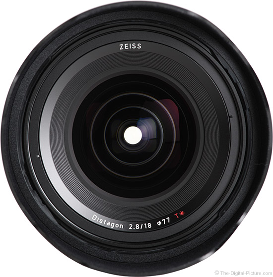 Zeiss 18mm f/2.8 Milvus Lens Front View