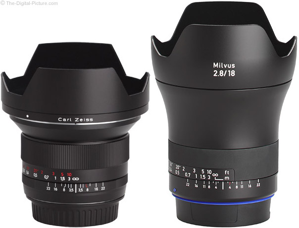 Zeiss 18mm f/2.8 Milvus Compared to f/3.5 Classic Lens