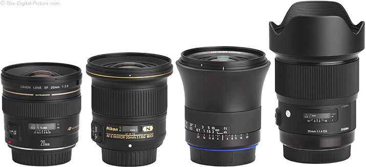 Zeiss 18mm f/2.8 Milvus Lens Compared to Similar Prime Lenses