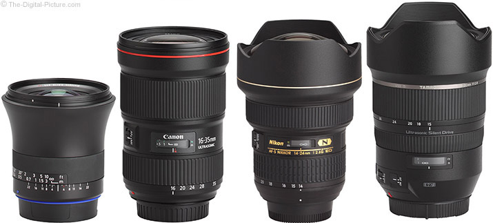 Zeiss 18mm f/2.8 Milvus Lens Compared to Similar Zoom Lenses
