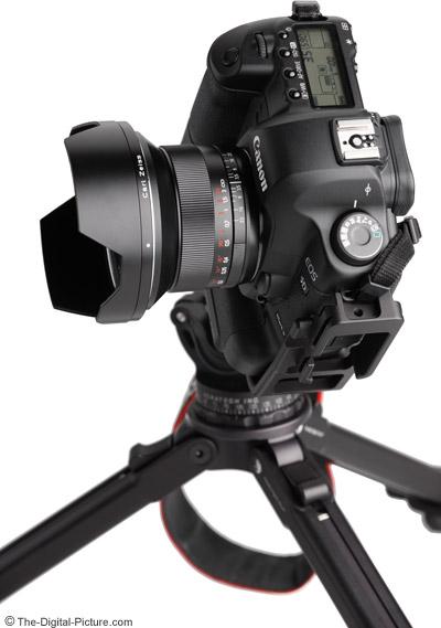 Zeiss 18mm f/3.5 Distagon T* ZE Lens Top View